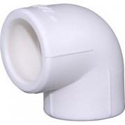 Угольник PPRC 40мм, 90 градусов, для водоснабжения и отопления, полипропиленовый, белый