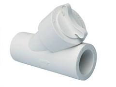 Фильтр PPRC сетчатый ВР/ВР 20x45мм, внутренний-внутренний, комбинированный, полипропиленовый, белый