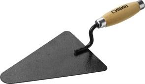 Кельма/мастерок бетонщика Сибин, 135x195мм, форма треугольник, деревянная ручка, КБ