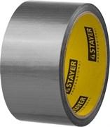Лента клейкая (скотч) STAYER Профи, 50ммx10м, армированная, на тканевой основе, универсальная, серебристая