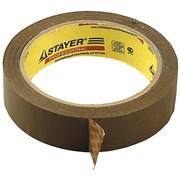 Лента клейкая (скотч) STAYER, 25ммx60м, упаковочная, коричневая