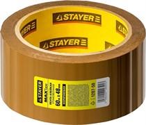 Лента клейкая (скотч) STAYER, 48ммx60м, упаковочная, коричневая