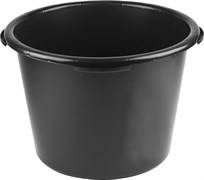 Таз строительный 40л, пластиковый, круглый, черный