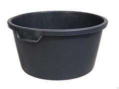 Таз строительный 65л, пластиковый, круглый, черный