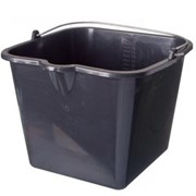 Ведро строительное серия Flexible, 16л, квадратное, резинопластиковое, черное