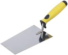 Кельма/мастерок бетонщика, трапеция, 180мм, сталь нержавеющая, мягкая ручка