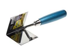 Кельма угловая STAYER ЕВРО 80x60мм, для внутренних углов, нержавеющая сталь, деревянная ручка