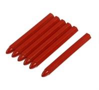 Мелки разметочные Matrix, восковые, 120мм, красные, набор 6шт.