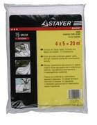 Пленка STAYER укрывная защитная, 4x5м, 15мкм, полиэтиленовая