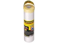 Пленка STAYER Маскер укрывная защитная с клейкой лентой, 1.4x15м, 10мкм