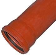 Труба канализационная 110x1000мм, наружная, НПВХ, оранжевая