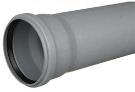 Труба канализационная 110x2.2x150мм, внутренняя, полипропиленовая, серая