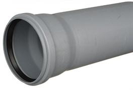 Труба канализационная 50x1.8x250мм, внутренняя, полипропиленовая, серая