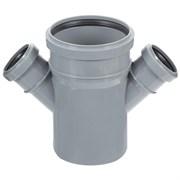 Крестовина канализационная одноплоскостная,  110/50/50, угол 45 градусов, полипропиленовая, серая