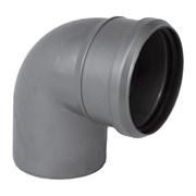Отвод канализационный 110мм 87 градусов, внутренний, полипропиленовый, серый