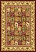 Ковёр коллекции BUHARA D145, 1x2м STAN-RED, прямоугольный, красный с абстрактным рисунком