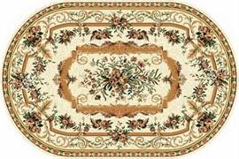 Ковёр коллекции LAGUNA 5439, 1.5x1.9м OVAL-CREAM, овальный, бежевый с рисунком