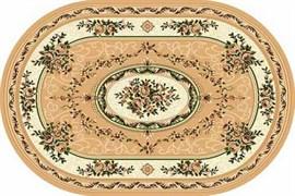 Ковёр коллекции LAGUNA 5444, 1.8x2.5м OVAL-BEIGE, овальный, бежевый с рисунком