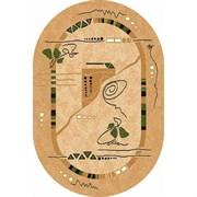 Ковёр коллекции LAGUNA ALBINA 3 1x2м OVAL-BEIGE, овальный, бежевый с рисунком