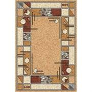 Ковёр коллекции LAGUNA ALBINA 3 1x2м STAN-BEIGE, прямоугольный, бежевый с рисунком