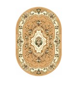 Ковёр коллекции LAGUNA d017 1.8x2.5м OVAL-BEIGE, овальный, бежевый с рисунком
