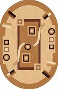 Ковёр коллекции LAGUNA d043 1.5x3м OVAL-BEIGE, овальный, бежевый с рисунком