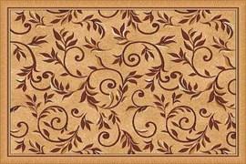 Ковёр коллекции LAGUNA d230 1x2м STAN-BEIGE, прямоугольный, бежевый с рисунком