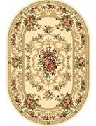 Ковёр коллекции OLYMPOS d057 2x2м DAIRE-CREAM, круглый, бежевый с рисунком