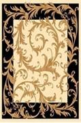 Ковёр коллекции OLYMPOS d156 2x3м STAN-CREAM-BLACK, прямоугольный, кремово-черный с рисунком