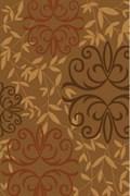 Ковёр коллекции RIVIERA v841 1.6x2.3м STAN-BROWN, прямоугольный, коричневый с рисунком