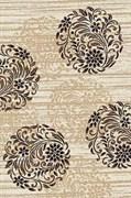 Ковёр коллекции VALENCIA DELUXE d303 1x2м STAN-CREAM-BROWN, прямоугольный, кремово-коричневый с рисунком