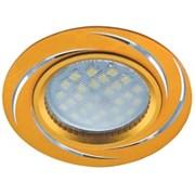 Светильник встраиваемый Ecola DL3181 MR16 GU5.3, 23x78мм, литой, матовый, золото, алюм Вихрь, FG1607EFF