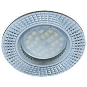 Светильник встраиваемый Ecola DL3182 MR16 GU5.3, 23x78мм, литой, матовый, рифленые реснички по кругу, хром, алюм, FS1608EFF
