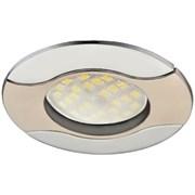 Светильник встраиваемый Ecola HL029 MR16 GU5.3, 22x82мм, Волна, литой, сатин-хром, хром, FN1604EFS