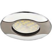 Светильник встраиваемый Ecola HL029 MR16 GU5.3, 22x82мм, Волна, литой, черный хром, хром, FN1604EFS