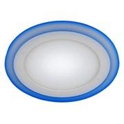 Светильник встраиваемый ЭРА светодиодный LED 3-9BL, 145x26мм, круглый, синяя подсветка 9W, 220V, 4000К