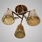 Люстра подвесная 3-рожковая 12402/3C FGD, 3х40W, E27, d360, LNGSH19, золото
