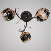 Люстра подвесная 3-рожковая 31735/3 FGD+BK, 3х40W, E27, d500, LNGSH19, золото/черный