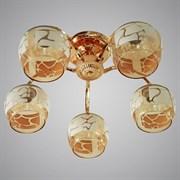 Люстра подвесная 5-рожковая 31746/5 FGD, 5х40W, E27, d520, LNGSH19, золото