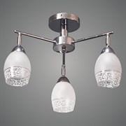 Люстра подвесная 3-рожковая 91818A/3 CH, 3х40W, E27, d460, h300, п/м, хром