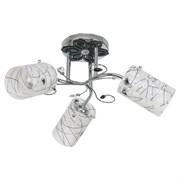 Люстра подвесная 3-рожковая 007YX/3CR WT, диаметр 420мм, 3x40W, хром/черный, серый