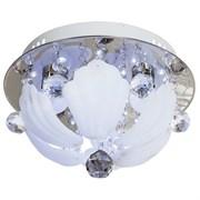 Люстра подвесная LED-встроенная 3639/3CR RC WTLED, диаметр 300мм, 300x300x190мм, 3x40W, хром, прозрачный/матовый
