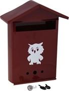 Ящик почтовый Домик №2 Сова, 350x240мм, коричневый, с замком