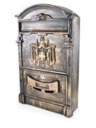 Ящик почтовый №4010, 405x255мм, старая медь, с замком