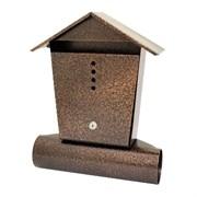 Ящик почтовый ДОМИК, с замком, антик медь, с замком