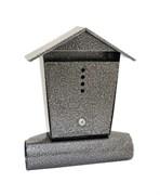 Ящик почтовый ДОМИК, с замком, антик серебро, с замком