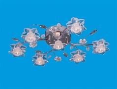 Люстра потолочная 6617/7CR RC RBPLED, диаметр 650мм, 7x20W, хром, прозрачный, с LED подсветкой