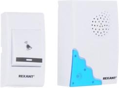 Звонок беспроводной Rexant RX-1 (R6х2+23Ах1), 4 уровня громкости, 36 мелодий, 80м