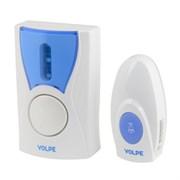 Звонок беспроводной VOLPE UDB-Q027 W-R1T1-16S-80M-WH, 16 мелодий, 80м