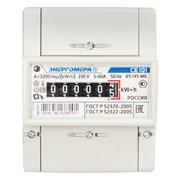 Счетчик электрический Энергомера СЕ 101 R5 145 М6, однотарифный, 5-60А, 1класс точности, механическое табло, на DIN-рейку и щит